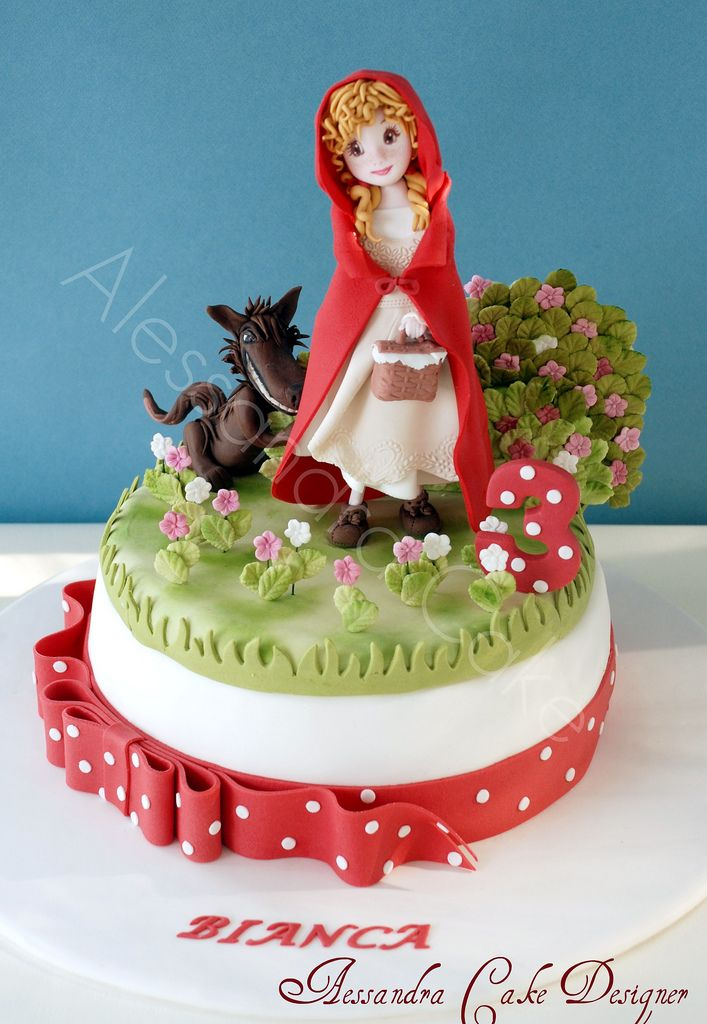 https://flic.kr/p/bvZ7Hv | Red Riding Hood | Cappuccetto Rosso Cake.