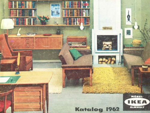 The 1962 IKEA Catalog Cover Featured A Cozy Living Room Office Space What Do