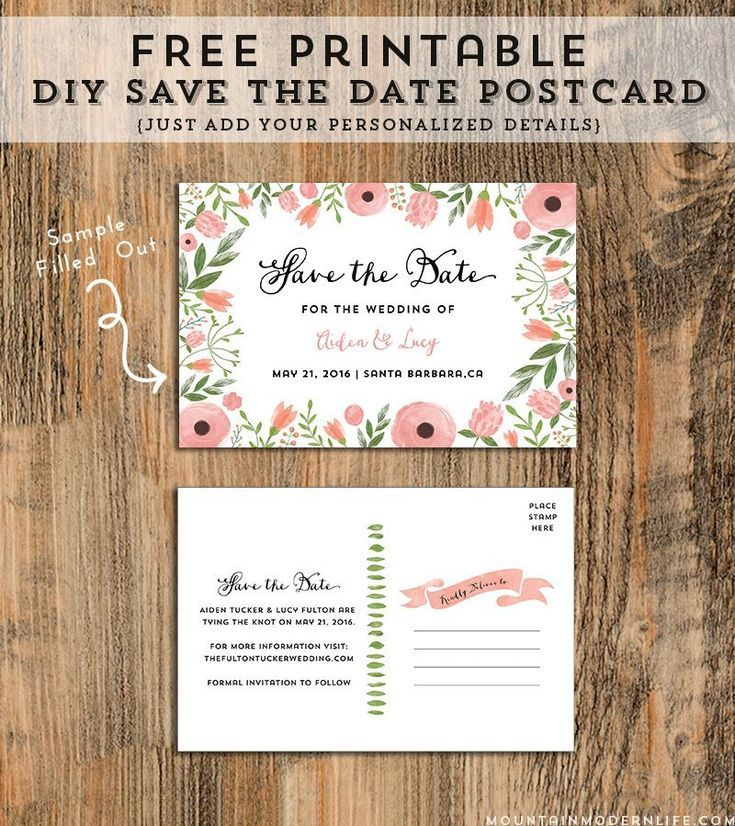 5 beautiful and free save the date templates diy save