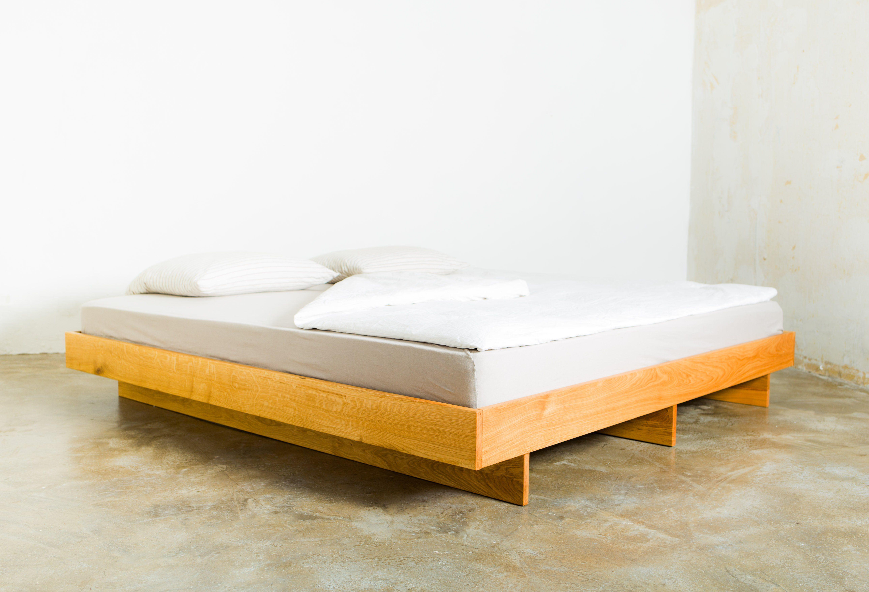 Minimal Bed Frame Handmade from European Oak, King