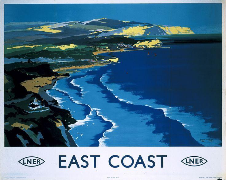 LNER Railway Travel Art Poster, East Coast,.17