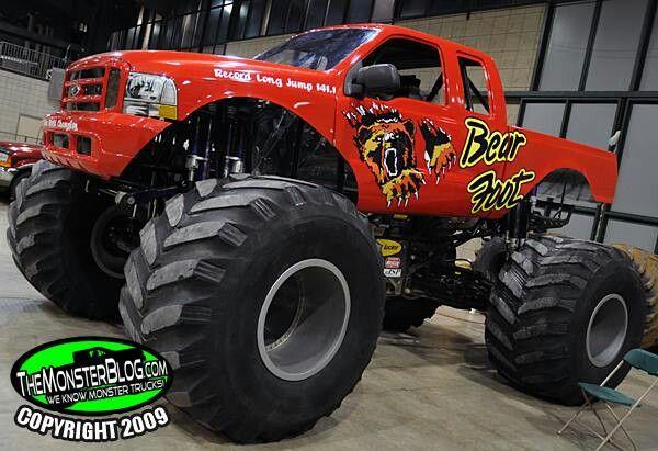 Monster Red Ford Truck Monster Truck Cars Big Monster Trucks