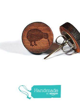 Handgemachte Kiwi Ohrstecker aus massivem Holz von der Lila Zitrone https://www.amazon.de/dp/B01N2MJ81E/ref=hnd_sw_r_pi_dp_86sMyb2FBXABR #handmadeatamazon