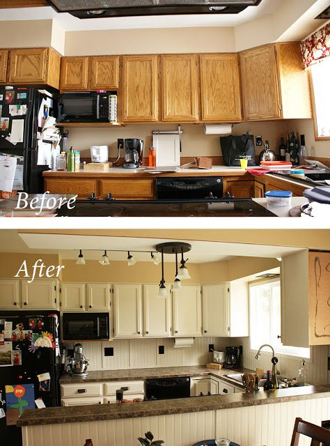 My inexpensive diy kitchen remodel the before and after for Inexpensive kitchen remodel