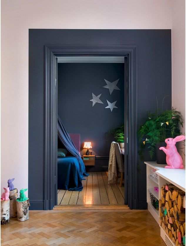 Oser la couleur kids Pinterest Interiors, Wall accents and Salons - Peindre Des Portes En Bois