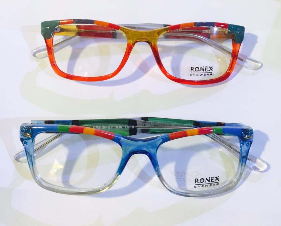 40ec5e25b551 These colorful frames hand painted by Roni Dori-Ronex Eyewear | Roni .