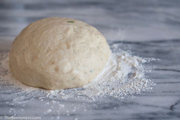 One Hour Rosemary Beer Pizza Dough