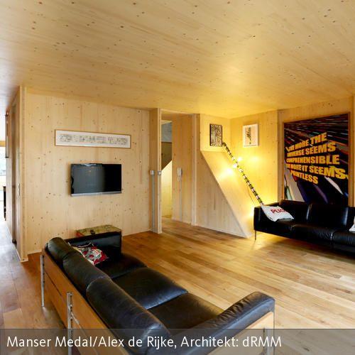 holz boden und decke modern interieur, decken- und wandverkleidung aus holz | wandverkleidung, moderne, Design ideen