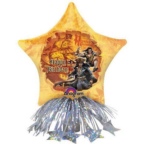 14 Pirates Birthday Star Centerpiece by M and D. $20.16. Packaged Balloon Is Self-sealing