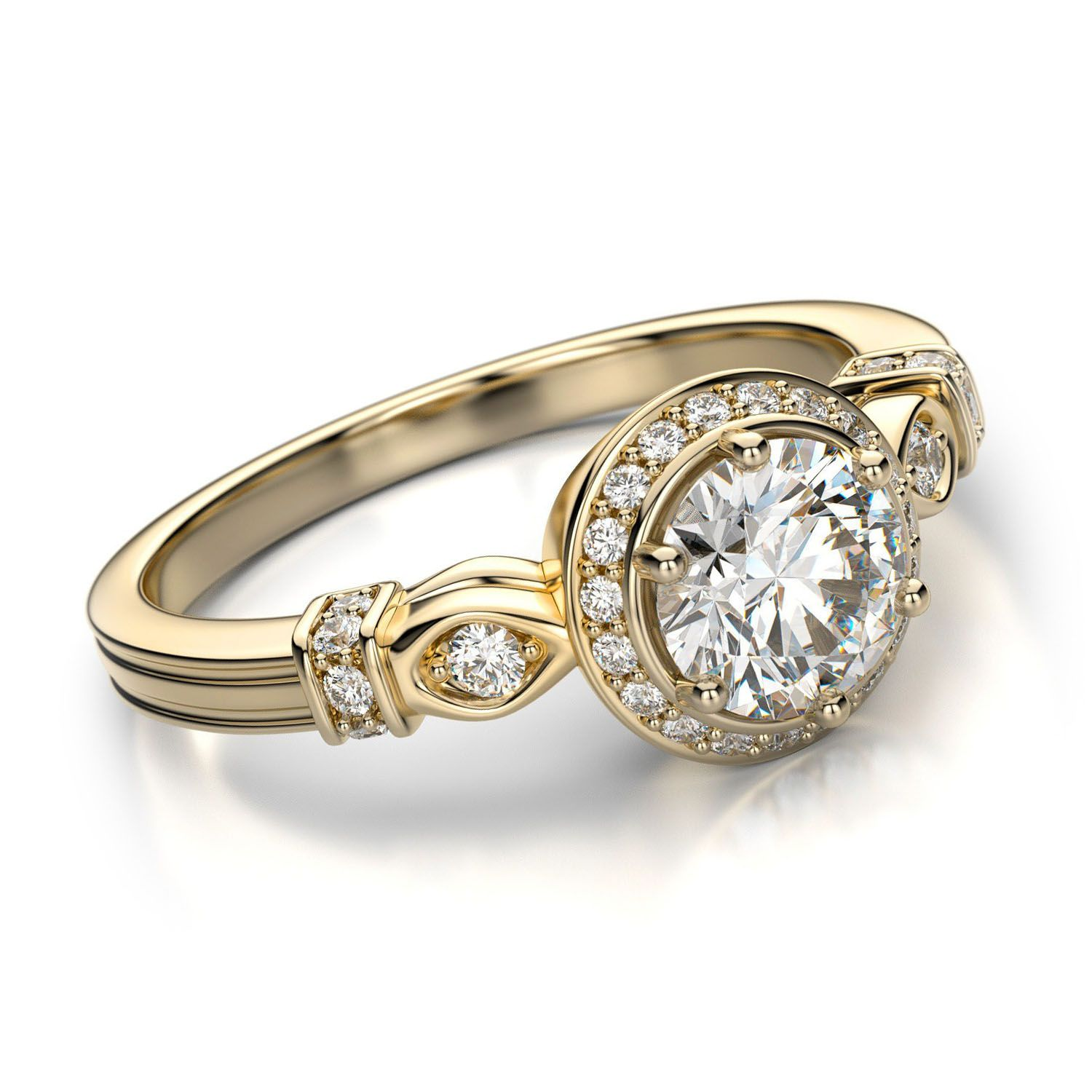 Vintage diamond engagement rings for women beautiful for Wedding engagement rings for women