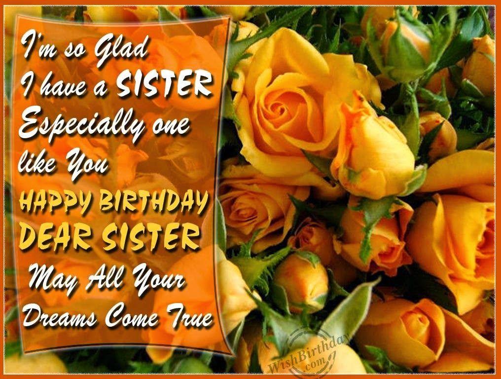 Birthday Wishes Elder Sister Happy birthday sister