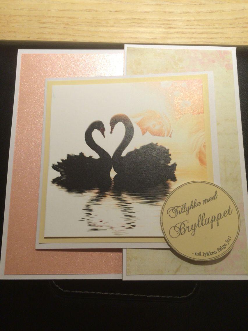 Kort / card Bryllup / wedding Hjemmelavet / homemade