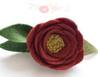 rosa fiore feltro fascia feltro fiore fascia di LovelyEliCo