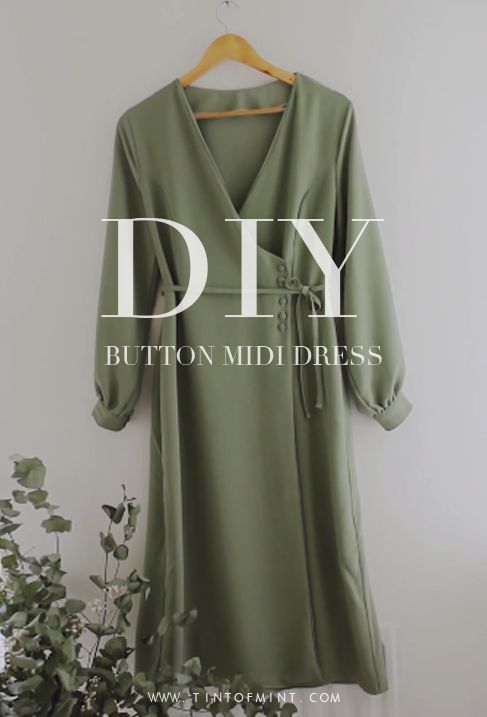 Photo of DIY Button Wrap Midi Dress