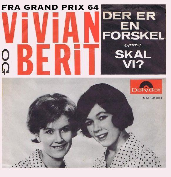 Der er en forskel. Vivian & Berit. Dansk Grand Prix 1964