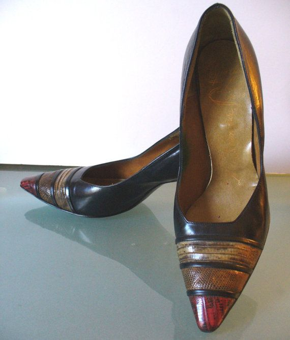 Vintage Mr. Seymour Stiletto Heels With Reptile by TheOldBagOnline, $42.99