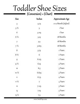 Toddler Shoe Size Conversion Chart Toddler Shoe Size Chart Toddler Shoes Shoe Size Chart Kids