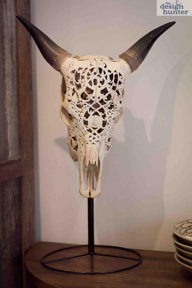 Indonesian Carved Bull Skull. We saw these all over Bali