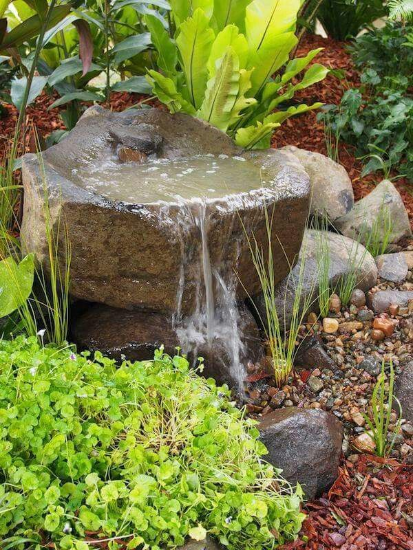 Stone Water Feature Small Garden Features Outdoor Fontaine
