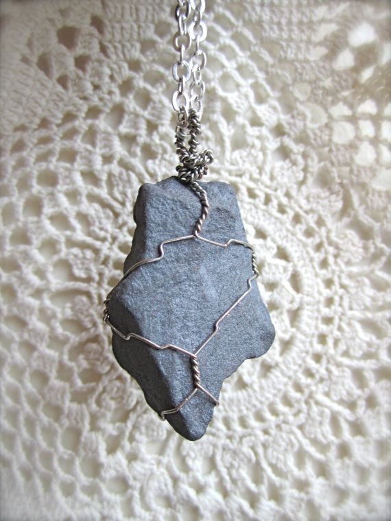 Wire wrapped stone necklace | Wire Wrapped | Pinterest | Wire ...