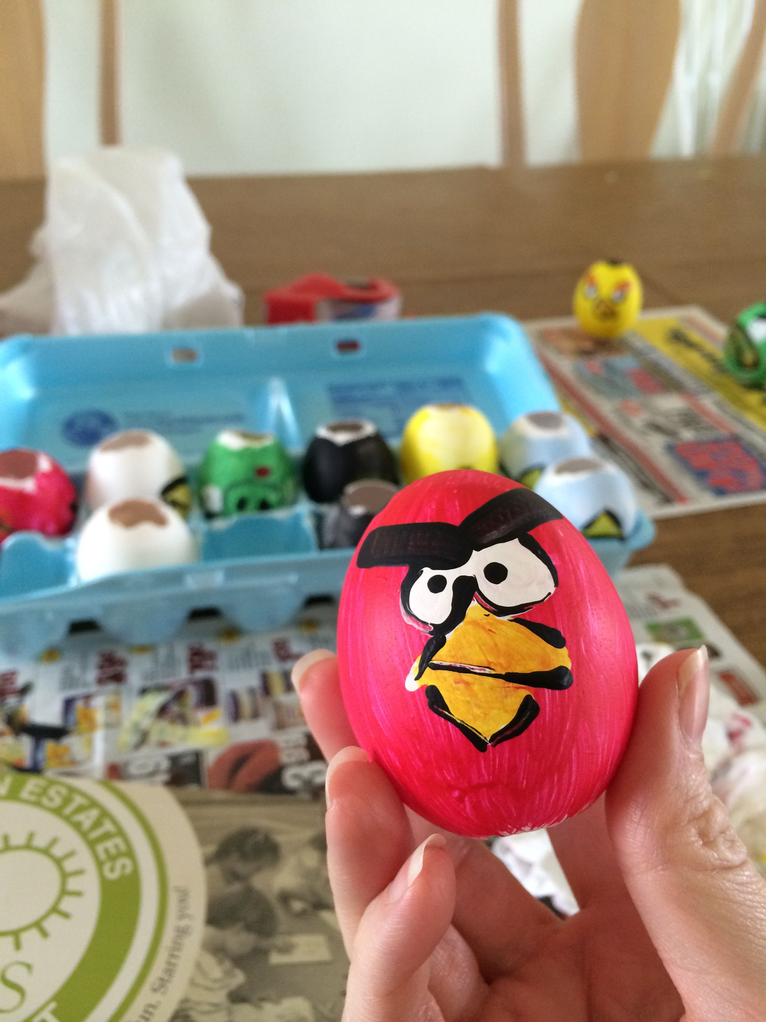 Making Angry Birds glitter bomb eggs this year!