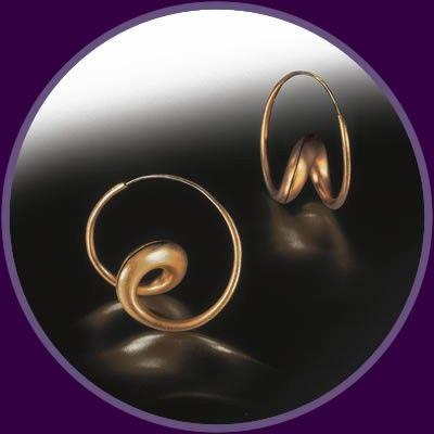 Single Loop Earrings with Matte Finish