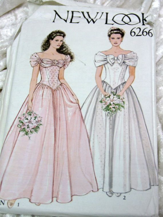 Vintage 1980 Formal/Wedding Dress Multi size Sewing Pattern UNCUT ...