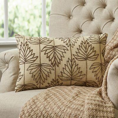Wayfair Leaf Tracing Lumbar Pillow Cover