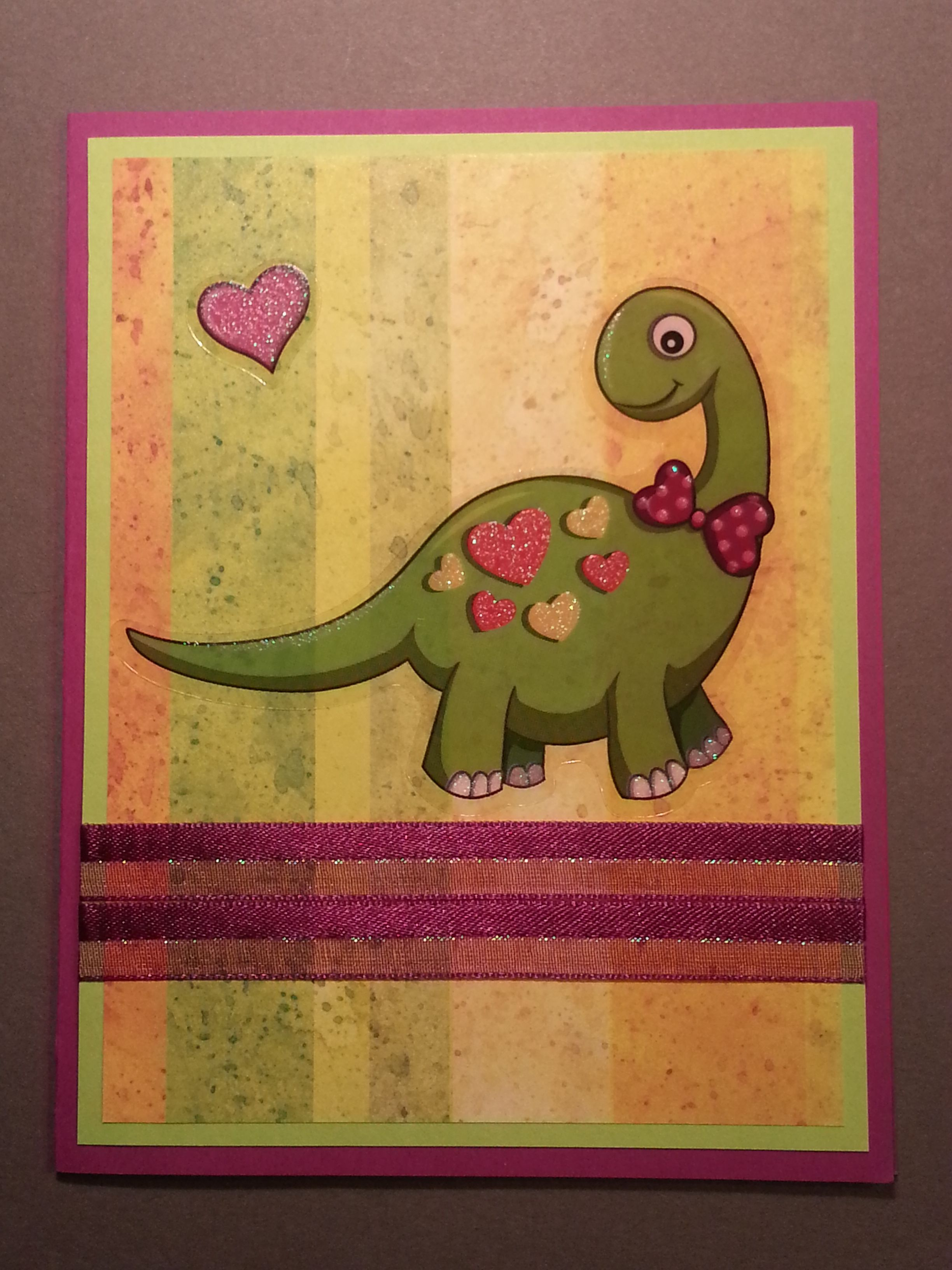 Dinosaur valentine stickers from dollar tree valentine