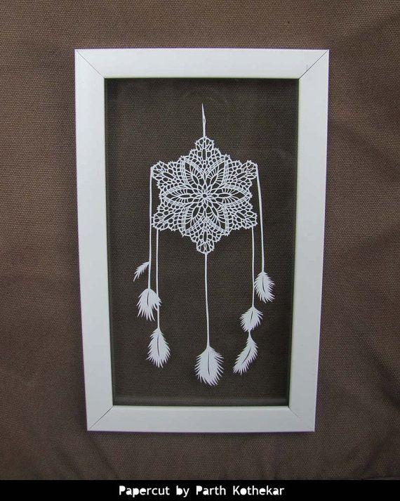 Shipping Free - Papercut - Crochet Dreamcatcher - wall hanging ...