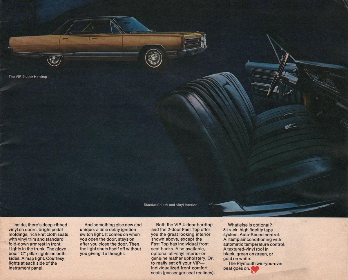 Chrysler 1968 Plymouth Sales Brochure Sales Brochures Chrysler Retro Cars