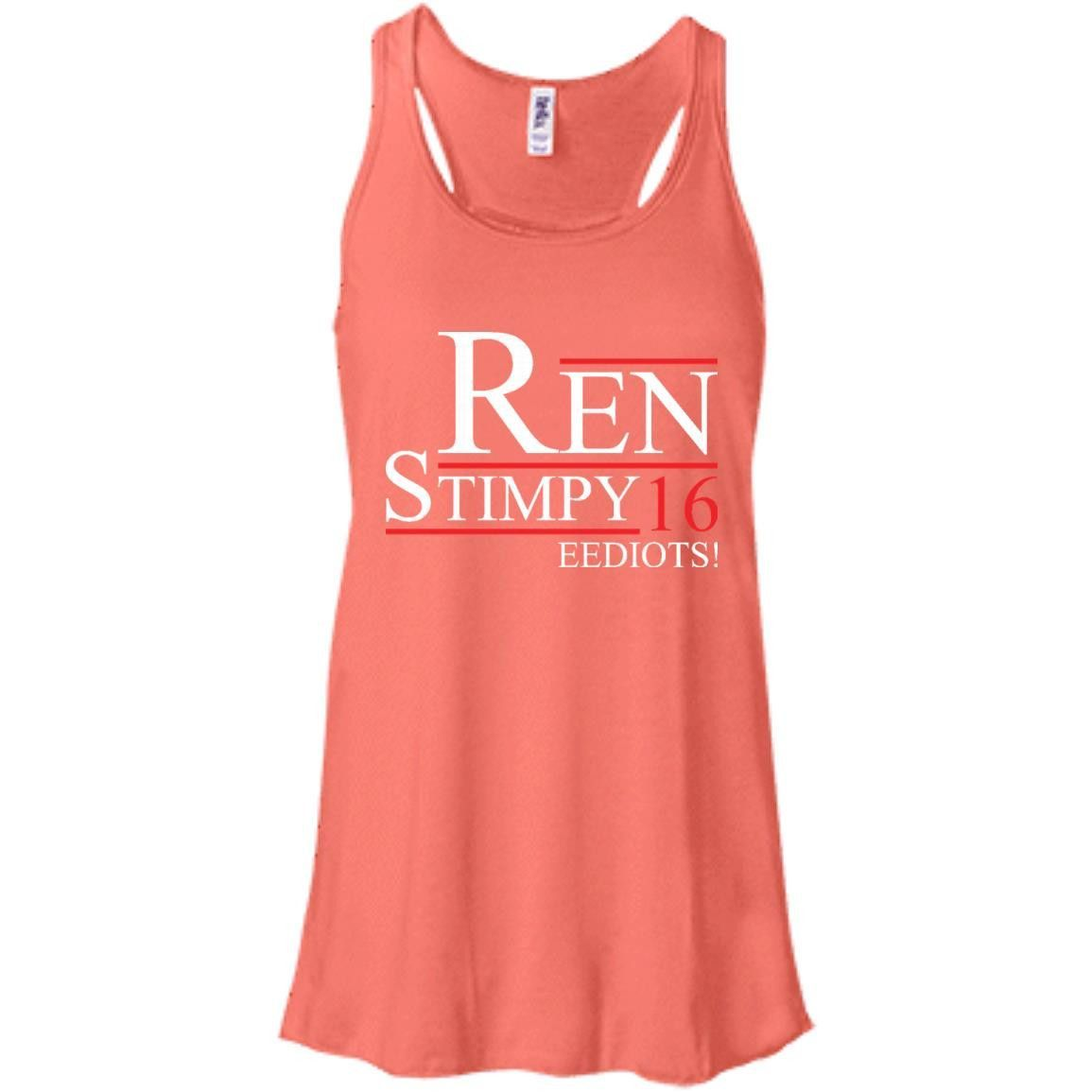 EEDIOTS! Ren Stimpy 2016 T-Shirt -01 Bella + Canvas Flowy Racerback Tank