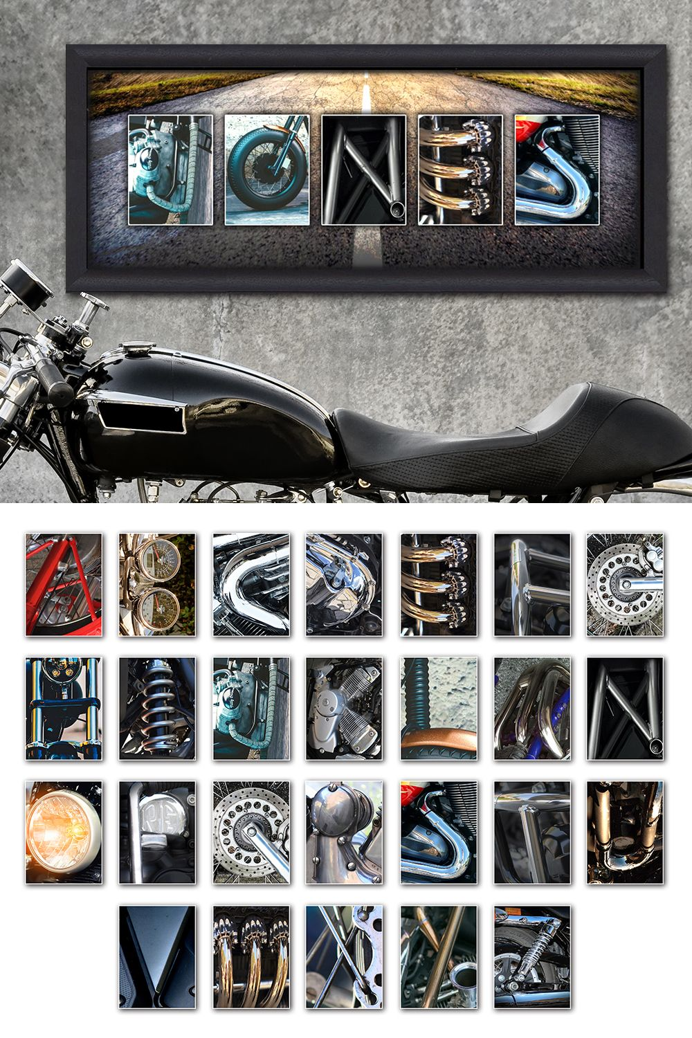Motorcycle Letters Name Print Decorating With Letters Motorcycle