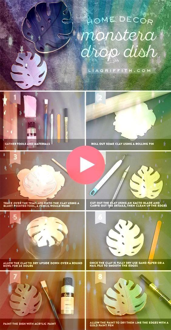 Sie eine einfache DIY Monstera Drop Dish für Ihr Zuhause  Einfaches Handwerk Machen Sie eine einfache DIY Monstera Drop Dish für Ihr Zuhause  Einfaches Handwerk...