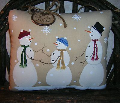 Snowman Family Pillow Ornie