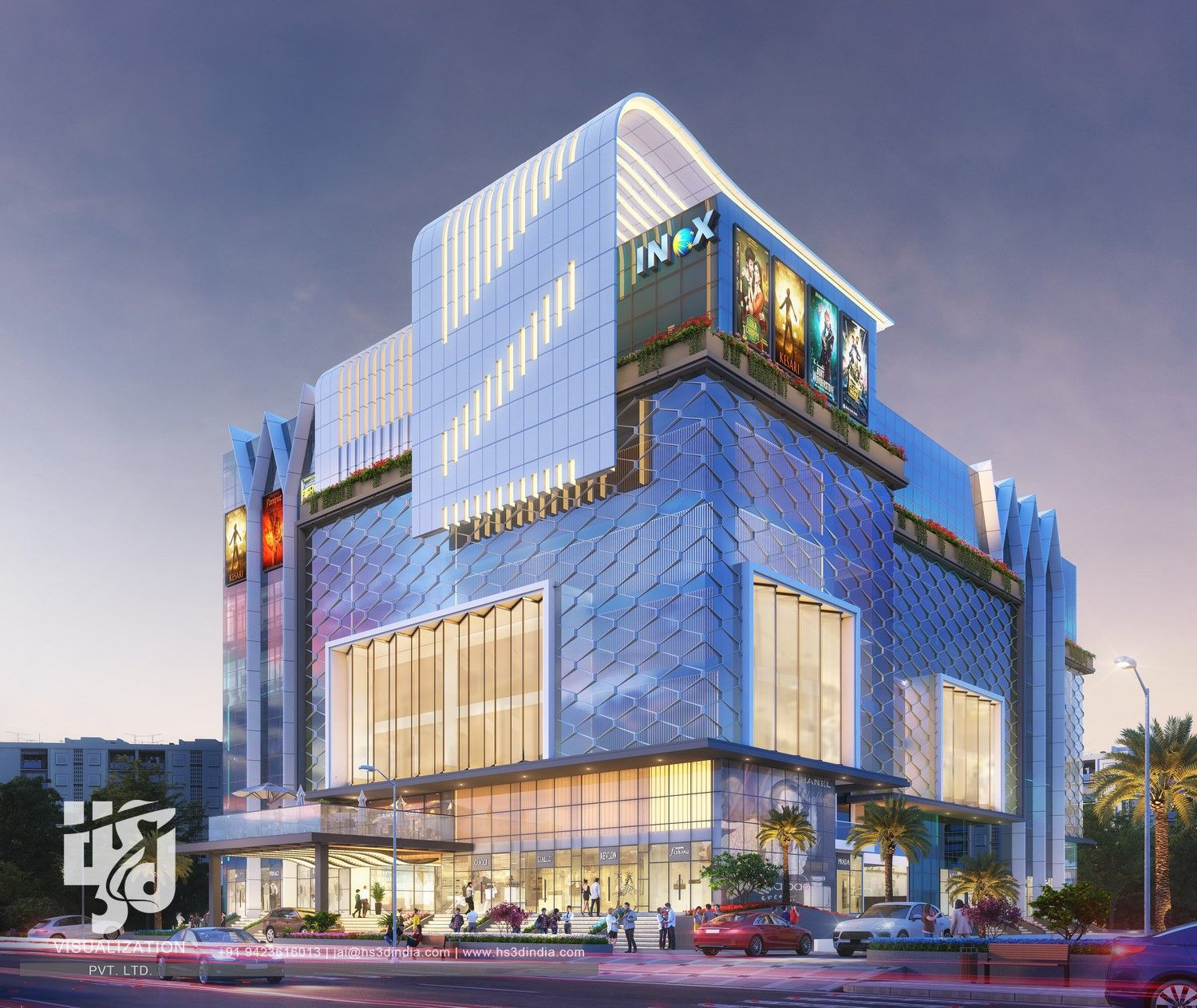 Street View Architectural Building Exterior Commercial Design Exterior Shopping Mall Architecture