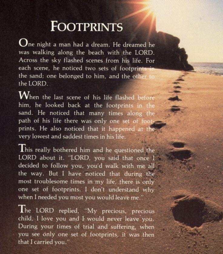 Pin By Crystal Alexander On Screenshots Footprints In The Sand Poem Footprint Footprints Poem