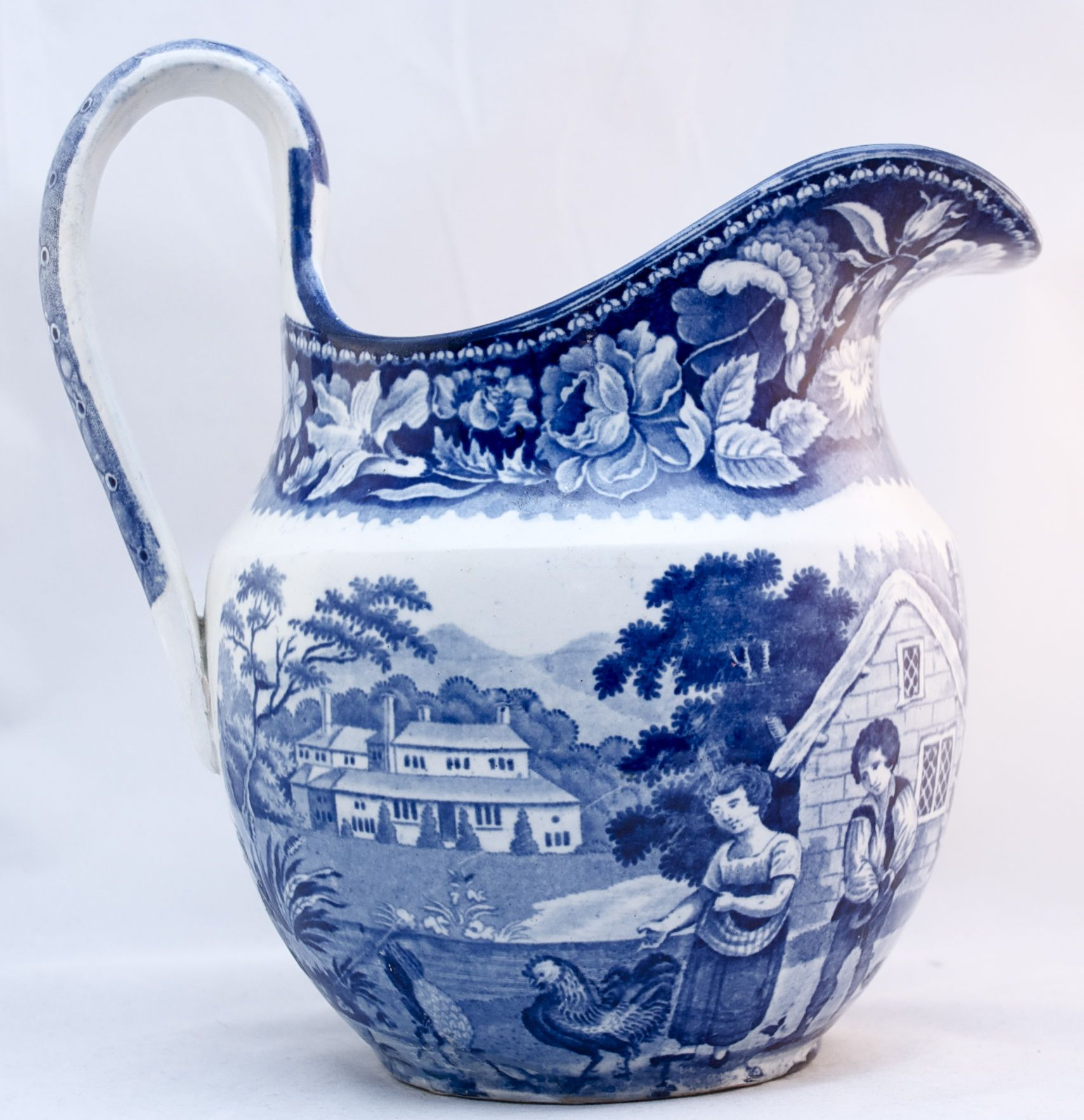 transferware blue and white pitcher blue and white love pinterest. Black Bedroom Furniture Sets. Home Design Ideas