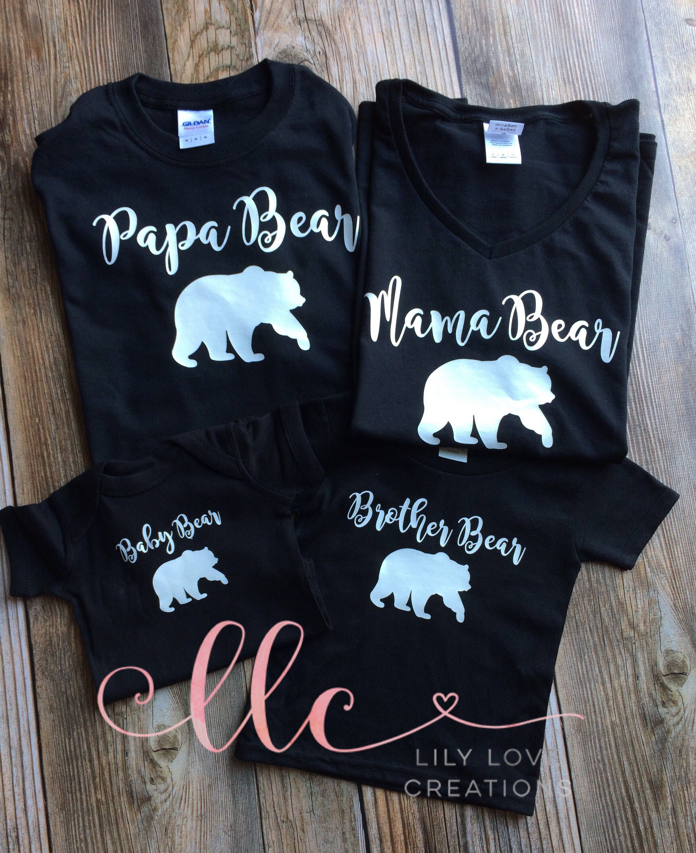 f95bc143 Mama bear shirt - family shirts - adult shirt - new family shirt - baby  shower