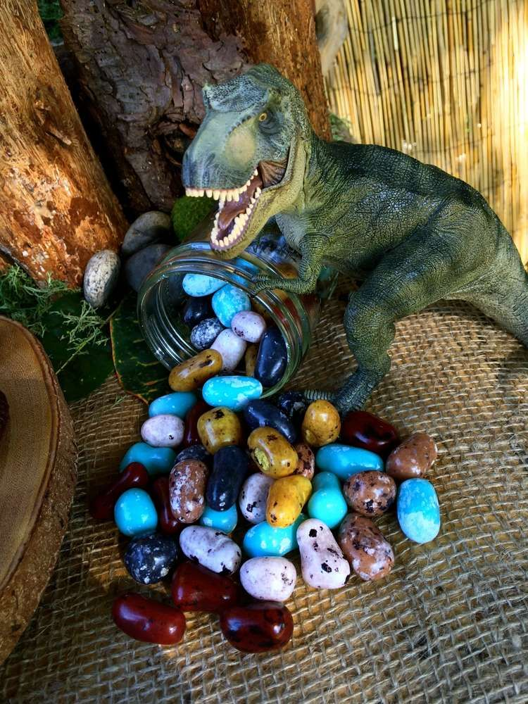 Dinosaur Birthday Party Ideas Candy decorations Dinosaur birthday