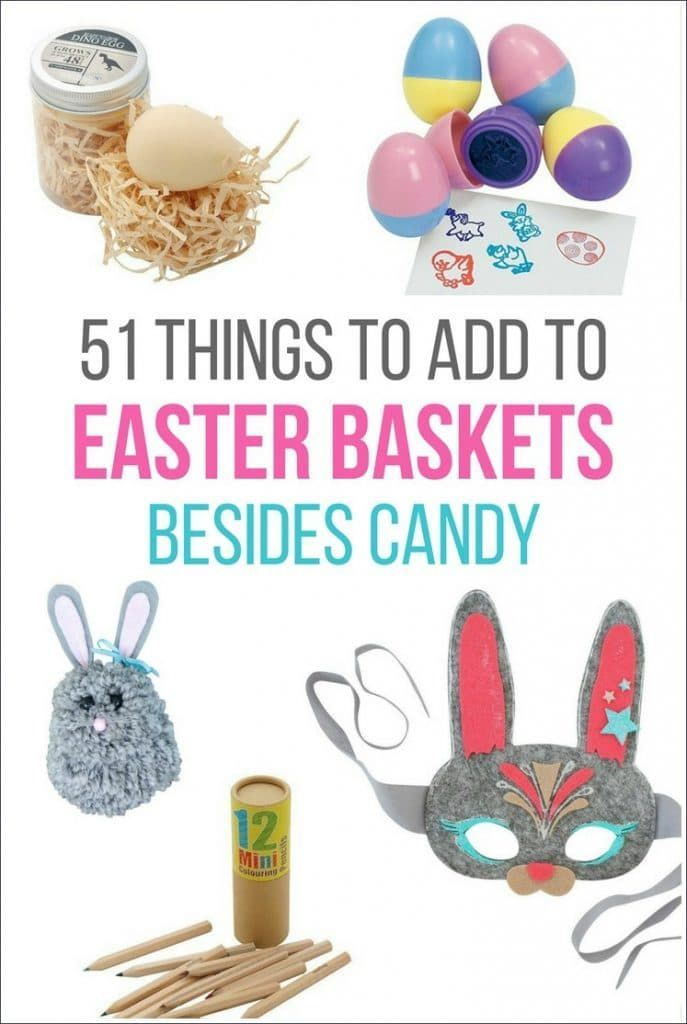 51 things to add to easter baskets besides candy pinterest a list of 51 things you can include in your kids easter baskets instead of candy these alternatives to easter candy will still make easter morning special negle Choice Image