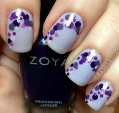 Polka dot manicures- recreated this one and LOVED it. Must do with other colors. So gorgeous, and with dotting tools (3-5bux on ebay/amazon), surprisingly easy!