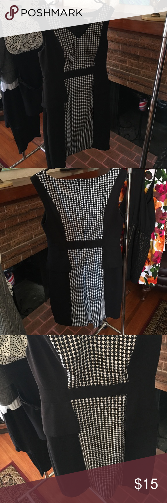 Peplum style dress Chevron pattern knee length with cute peplum detail at waist New York & Company Dresses Midi