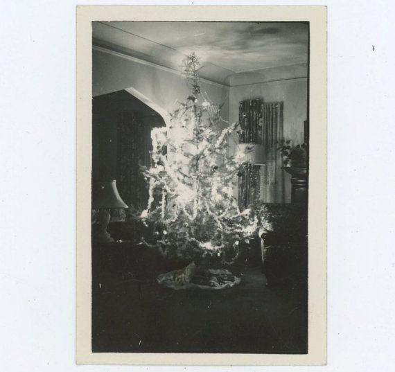 Magical Xmas Tree Illuminates Living Room c1940s by RetroGraphique