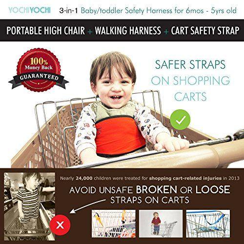 Travel High Chair + Portable High Chair + Toddler Safety Harness +