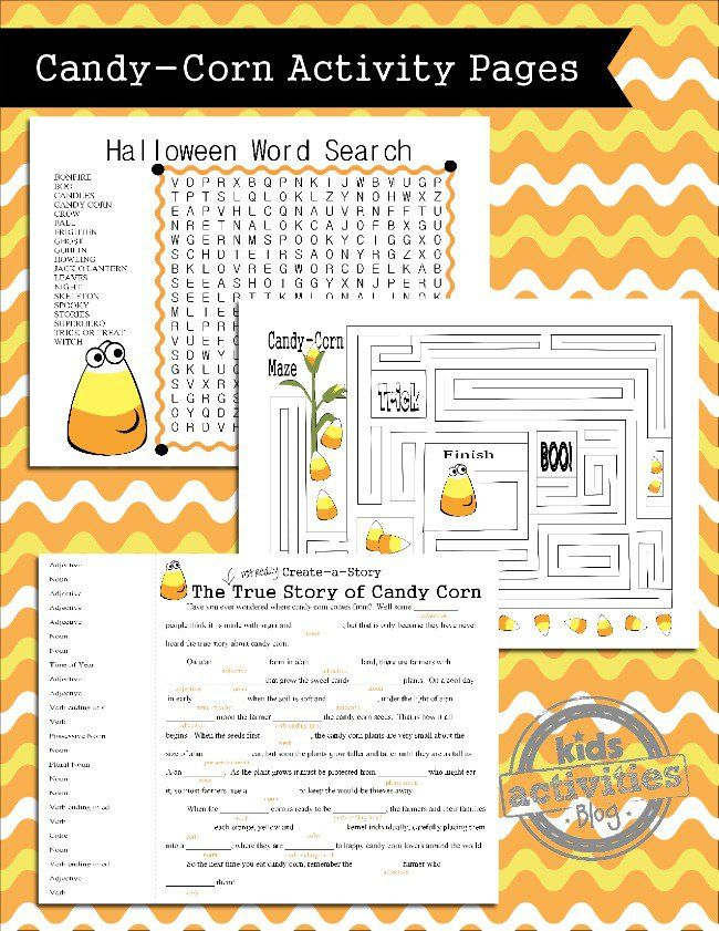 These printable Halloween games for kids include a Halloween word search, Halloween maze and a Halloween create a story.