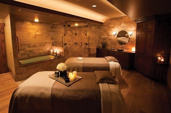 heim spa einrichten wanne massagen betten kerzen - Spa Und Wellness Zentren Kreative Architektur