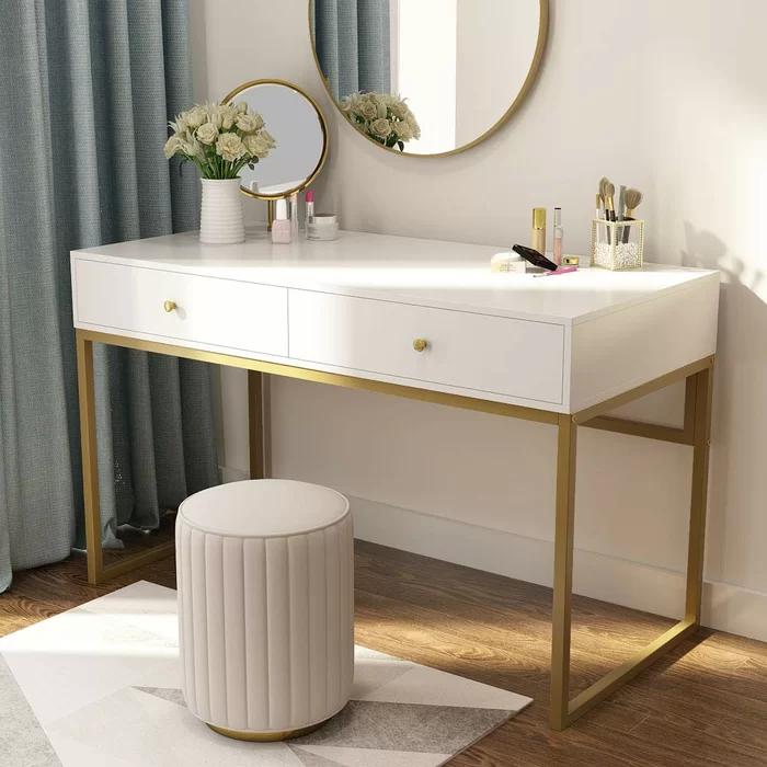 Duclos Desk In 2020 Bedroom Desk Desk With Drawers Room Decor