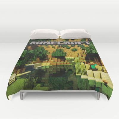 Minecraft duvet cover best for christmas gift and birthday gift timoth pinterest minions - Housse de couette minecraft ...