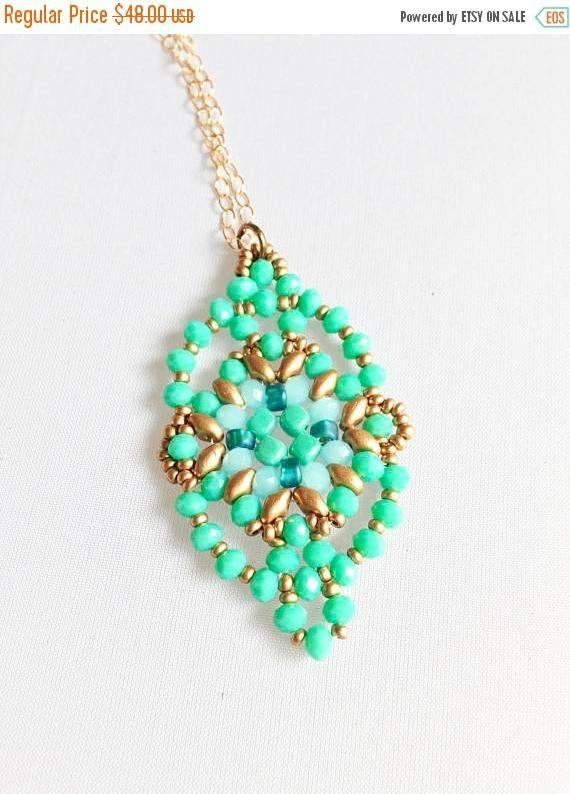 Sale 10% OFF Blue green  pendant women jewelry pendant